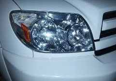 Headlight on White Car, Engine Repair in Temecula, CA
